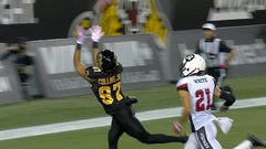 CFL Must See: Collins makes a spectacular grab in the end zone