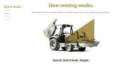 The pitch: Helping contractors rent for less