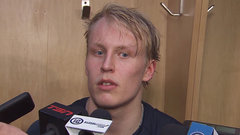 Laine talks about his booming shot