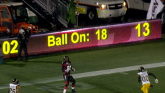 CFL In-Game: Burris connects with Criner on 18 yard scoring strike