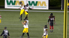 CFL In-Game: Masoli finds Chiles as Ticats within one