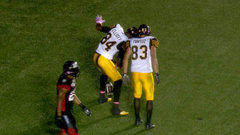 CFL In-Game: Elliott scores TD in first game with Ticats