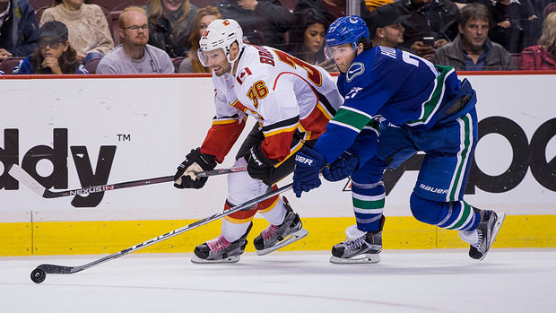 Flames, Canucks off to opposing starts