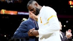 Cavs receive championship rings, LeBron addresses fans