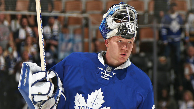 Babcock gets testy with reporter over goaltending questions