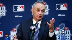Manfred open to potential Indians logo redesign after World Series