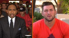 Tebow defends pursuit of dreams to Stephen A.