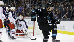 NHL: Blue Jackets 1, Sharks 3