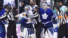 Wild melee ensues between Canucks and Leafs