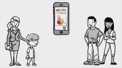 The pitch: A way for parents to communicate about their children