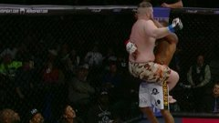 Must See: Fighter scoops up his opponent and slams him onto the canvas
