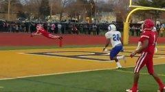 Must See: High school player makes sensational diving TD grab