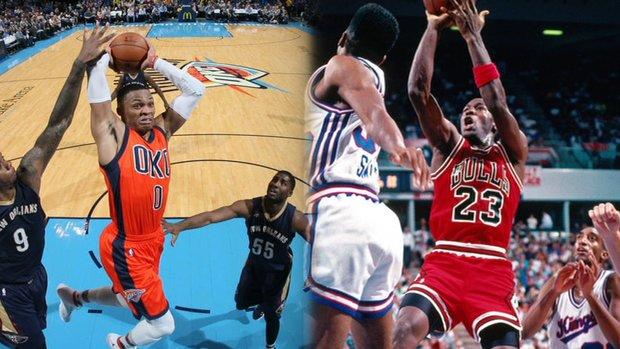 Westbrook channels his inner MJ with five straight triple-doubles