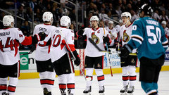 NHL: Senators 4, Sharks 2