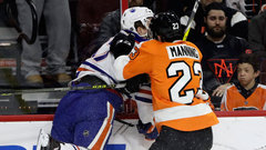 McDavid shows a different side against Flyers