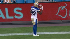 CFL In-Game: Denmark goes 79 yards for his second major of the night
