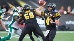 Durant struggles, Collaros shines in Ticats' win