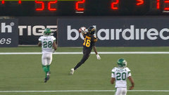 CFL In-Game: Banks' 58-yard TD extends Ticats' lead