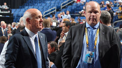 Lamoriello on Hunter's promotion, signing Enroth
