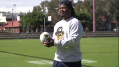 Must See: Beast Mode gives rugby a try