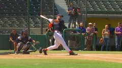 Tebow displays power at the plate