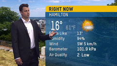 Must See: Collaros calls the weather