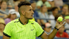 Kyrgios blows up at officials in straight sets victory