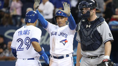 Jays' offence comes alive against Yanks