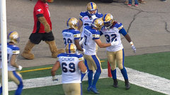 CFL In-Game: Flanders finds hole for 50-yard TD