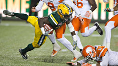 Eskimos' running game proves to be the difference