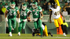CFL: Tiger-Cats 18, Roughriders 20