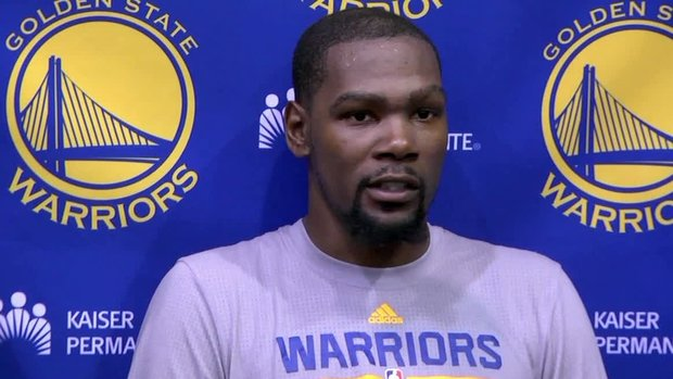 Durant admits he was anxious for first day with Warriors