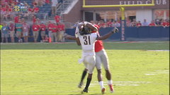 Must See: Metcalf makes insane catch around DB's helmet