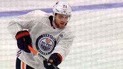 Injured Draisaitl skates before Oilers game day skate