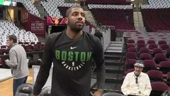 Kyrie not sweating reaction from Cavs fans