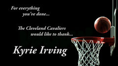 A sneak peek at the Cavs' video tribute to Kyrie
