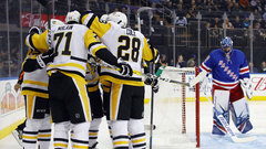 NHL: Penguins 5, Rangers 4 (OT)