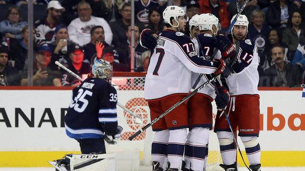 NHL: Blue Jackets 5, Jets 2