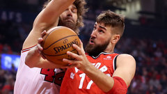 Valanciunas dominant in win over Bulls