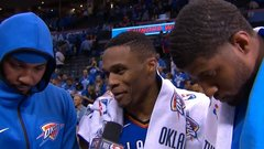 Thunder's Big 3 rises to occasion in debut
