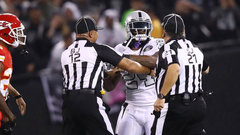 Lynch suspended one game for contact with an official