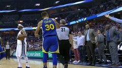 Must See: Curry ejected for throwing mouthpiece at official