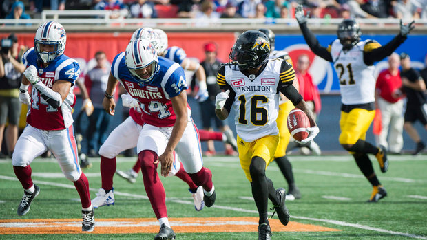 CFL: Tiger-Cats 43, Alouettes 16