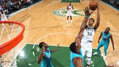 NBA: Hornets 94, Bucks 103