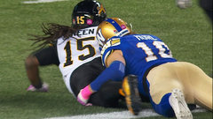 Green's touchdown increases Tiger-Cats lead to 12