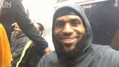 Must See: LeBron, Cavs ride the New York subway