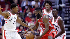 Raptors dictate game against Rockets
