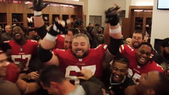 49ers locker room goes insane after first win of season