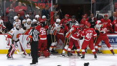 Must See: Brawl erupts between Flames and Wings