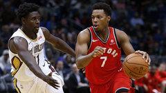 NBA: Raptors 125, Pelicans 116